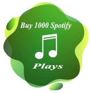 Buy 1000 Spotify plays