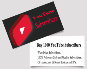 Buy 1000 YouTube Subscribers $5