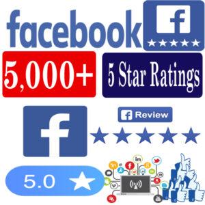 Buy 5000 Facebook 5 Star Ratings